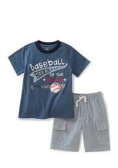 Kids Headquarters 2-Piece 'Rookie Of The Year' Tee and Short Set Boys 4-7