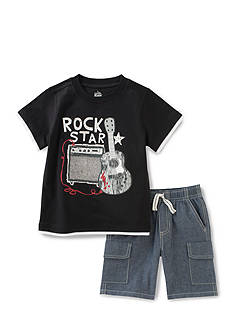 Kids Headquarters 2-Piece 'Rock Star' Tee and Short Set Boys 4-7