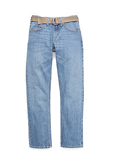 Lee Dungaree Belted Slim Straight Leg Jeans Boys 8-20