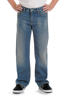 Lee Dungaree Straight Leg Denim Knit Jeans Boys 8-20