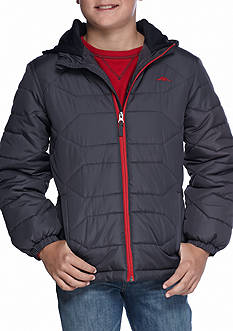 Pacific Trail Heavy Weight Puffer Jacket With Fleece Hood Boys 8-20