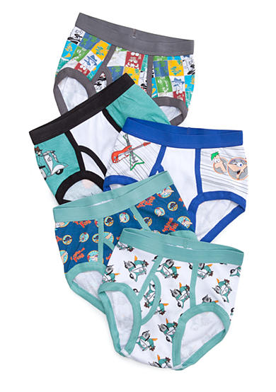 Disney® 5-Pack Phineas and Ferb Underwear Boys 4-7