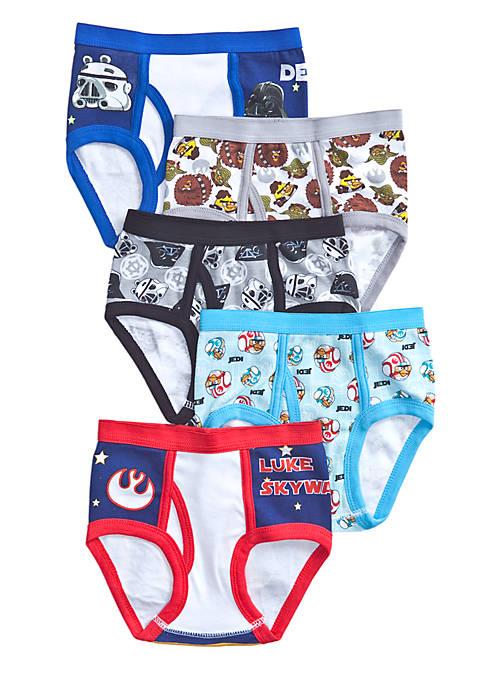5 Pack Angry Birds Star Wars Underwear Boys 4 7 Belk