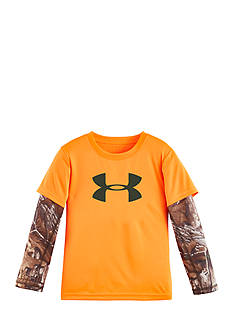 Under Armour Big Logo Real Tree Slider Tee Boys 4-7