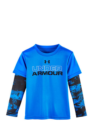 Under Armour® Cracked Slider Long Sleeve Tee Boys 4-7
