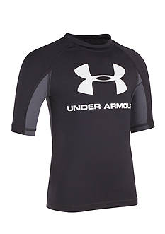 Under Armour® Logo Short-Sleeve Rashguard Boys 8-20