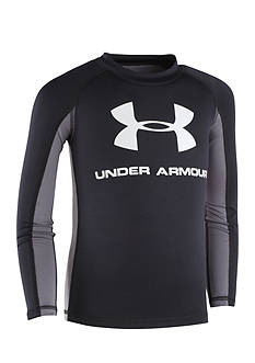 Under Armour® Logo Long-Sleeve Rashguard Boys 8-20