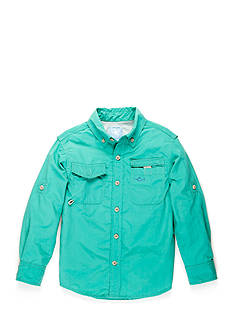 J. Khaki Long-Sleeve Fishing Shirt Boys 4-7