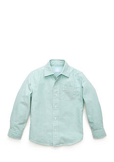J. Khaki Oxford Woven Shirt Boys 4-7