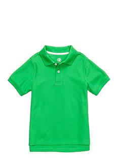 J. Khaki Solid Pique Polo Boys 4-7