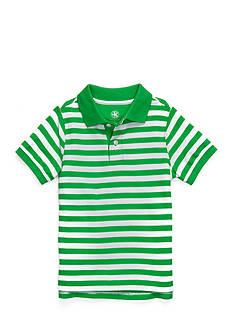 J. Khaki Short Sleeve Stripe Pique Polo Boys 4-7