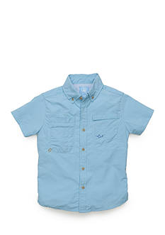 J. Khaki Fishing Button-Front Shirt Boys 4-7
