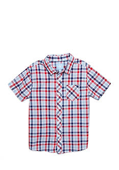J. Khaki® Plaid Button-Front Shirt Boys 4-7