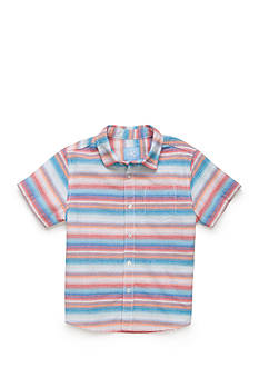 J. Khaki Stripe Woven Button-Front Shirt Boys 4-7