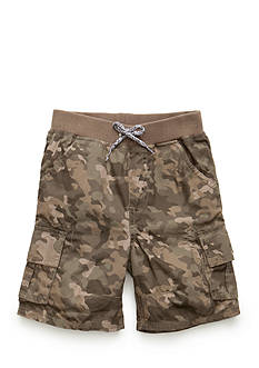 J. Khaki Pull On Cargo Short Boys 4-7