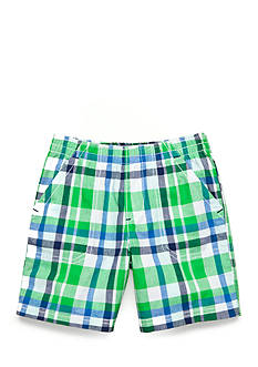 J. Khaki Plaid Short Boys 4-7