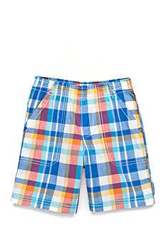 J. Khaki Plaid Short Boys 4-7