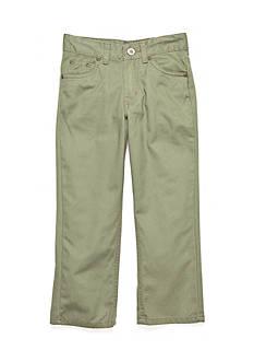 J. Khaki Flat Front Twill Pants Boys 4-7
