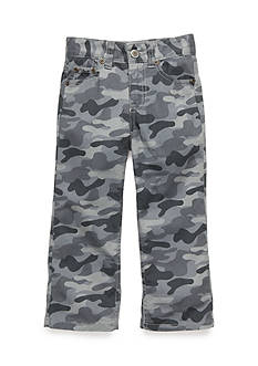 J. Khaki Camo Flat Front Pants Boys 4-7