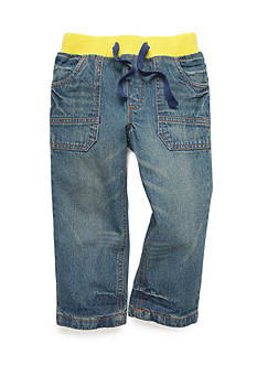 J. Khaki Denim Drawstring Pants Boys 4-7