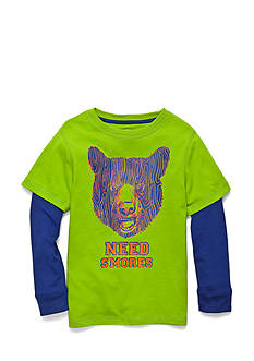 J Khaki™ Long Sleeve Novelty 2Fer Tee Boys 4-7