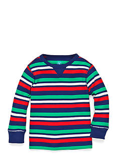 J Khaki™ Long Sleeve Striped Thermal Shirt Boys 4-7
