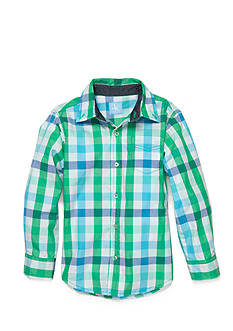 J Khaki™ Long Sleeve Woven Plaid Shirts Boys 4-7