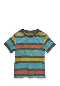 J. Khaki Stripe Tee Boys 4-7