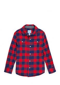 J. Khaki Flannel Shirt Boys 4-7