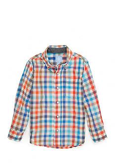 J. Khaki Woven Shirt Boys 4-7