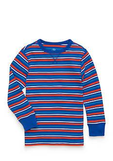 J. Khaki Stripe Thermal Shirt Boys 4-7