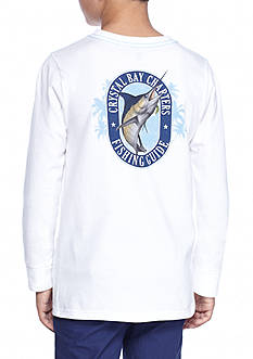 J. Khaki Long Sleeve Novelty Crew Tee Boys 8-20
