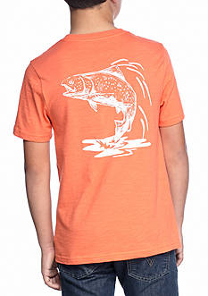 J. Khaki Pocket Fish Crew Tee Boys 8-20