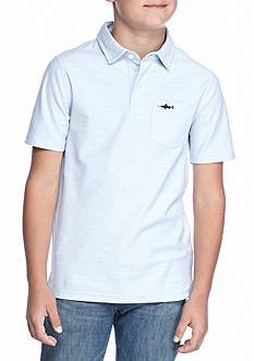 J. Khaki® Short Sleeve Solid Pique Polo Shirt Boys 8-20