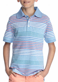 J. Khaki Boys Stripe Pique Polo Boys 8-20