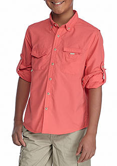 J. Khaki Fishing Shirt Boys 8-20
