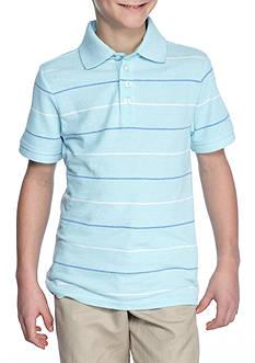 J. Khaki Stripe Pique Polo Boys 8-20