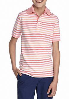 J. Khaki Striped Polo Boys 8-20