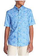J. Khaki® Printed Button-Front Shirt Boys 8-20