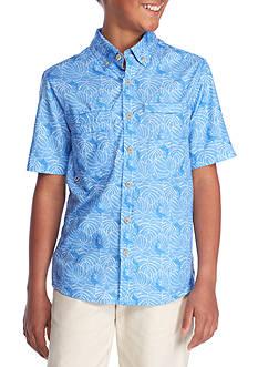 J. Khaki Printed Button-Front Shirt Boys 8-20