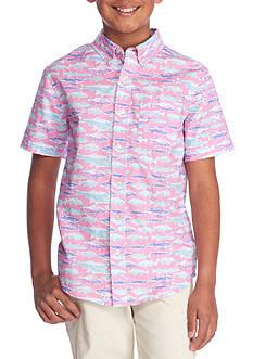 J. Khaki Printed Woven Button Front Shirt Boys 8-20