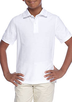 J. Khaki Solid Polo Boys 8-20