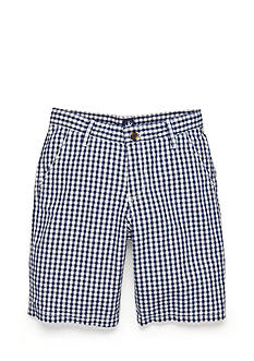 J Khaki™ Gingham Shorts Boys 8-20
