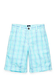 J Khaki™ Flat Front Plaid Shorts Boys 8-20