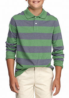 J. Khaki Stripe Polo Boys 8-20