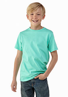 J Khaki™ Short Sleeve Solid Crew Neck T-Shirt Boys 8-20