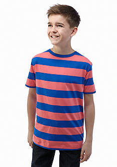 J Khaki™ Short Sleeve Striped Crew Neck Tee Boys 8-20