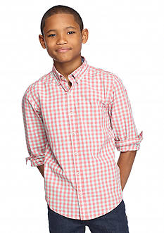 J Khaki™ Long Sleeve Plaid Woven Shirt Boys 8-20