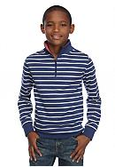 J Khaki™ Long Sleeve 1/4 Zip Striped