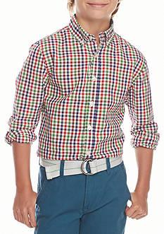 J. Khaki Poplin Woven Shirt Boys 8-20